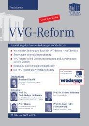 Wesentliche Änderungen durch die VVG-Reform – ein Überblick ...