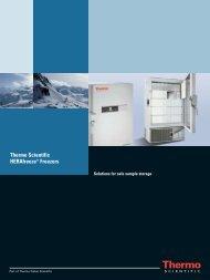 Thermo Scientific HERAfreeze® Freezers - Sapaco 2000