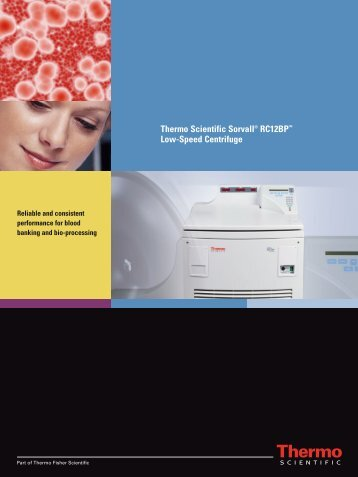 Thermo Scientific Sorvall® RC12BP™ Low-Speed ... - Sapaco 2000