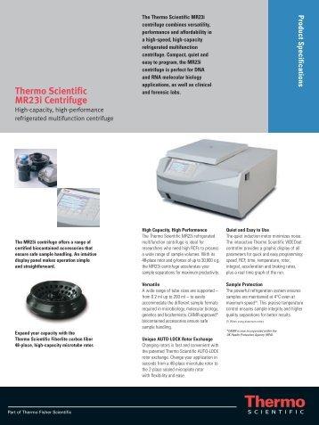 Thermo Scientific MR23i Centrifuge - Sapaco 2000