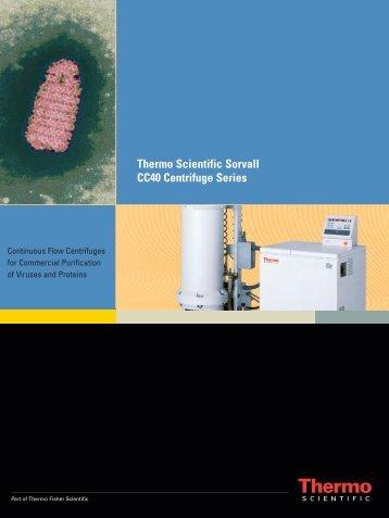 Thermo Scientific Sorvall CC40 Centrifuge Series - Sapaco 2000