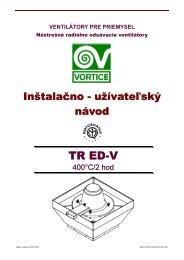 UZN-V-VPP-TR EDV-0710-01-SK - KLIMAVEX as