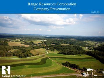 Range Resources Corporation Company Presentation