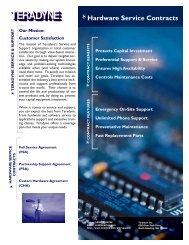 Hardware Service Contracts - Teradyne