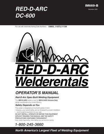 IM669-B RED-D-ARC DC-600