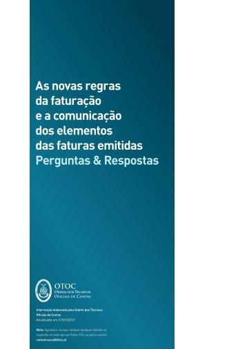 Novas Regras Faturação - Ordem dos Técnicos Oficiais de Contas
