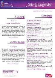 SNCF : bilan RSE 2010 6,7 milliards - UIC