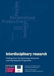 Interdisciplinary research. Findings from the Technology Enhanced ...