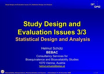 Statistical Design and Analysis - BEBAC • Consultancy Services for ...