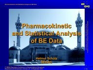 Pharmacokinetic and Statistical Analysis of BE Data - BEBAC ...