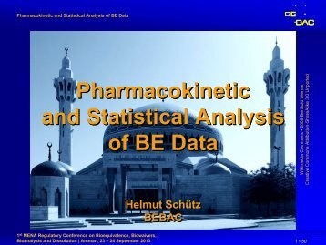 Pharmacokinetic and Statistical Analysis of BE Data - BEBAC ...
