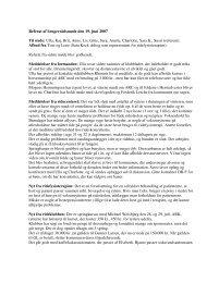 Referat brugerrådsmøde 19-06-2007 - Albertslund Rideklub