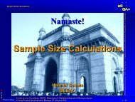 Sample Size Calculations - BEBAC • Consultancy Services for ...