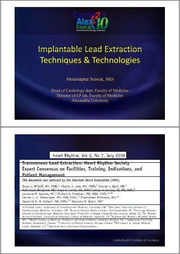 Implantable Lead Extraction Implantable Lead Extraction ...