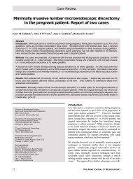 Minimally invasive lumbar microendoscopic discectomy in the ...