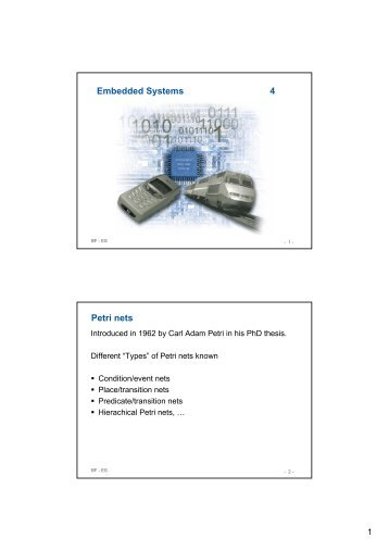 Embedded Systems 4 Petri nets