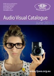 Audio Visual Catalogue - FPWA Sexual Health Services
