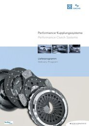 Performance-Kupplungssysteme Performance Clutch Systems