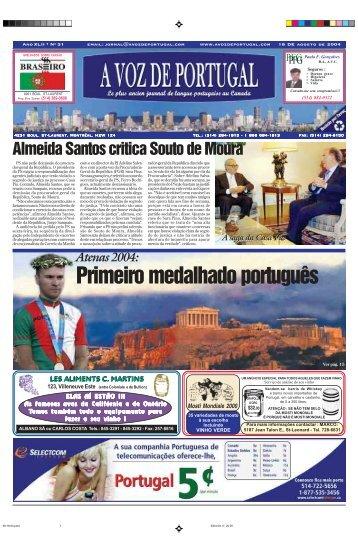 Primeiro medalhado português - A Voz de Portugal