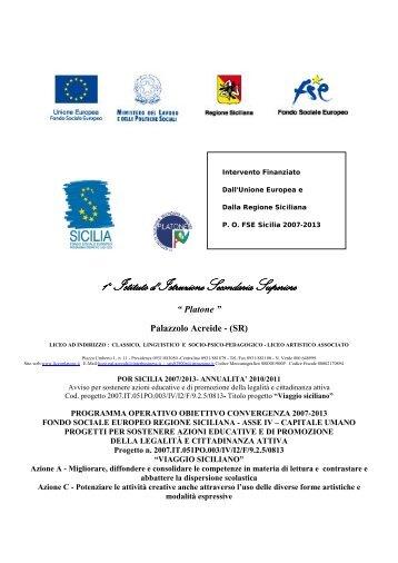 1° Istituto d' Istruzione Secondaria Superiore - Liceo Platone