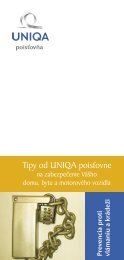 Tipy na zabezpečenie domu a bytu - UNIQA