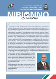 NIBIONNO IN COMUNE NR. 2 - DICEMBRE 2012.pdf - Comune di ...
