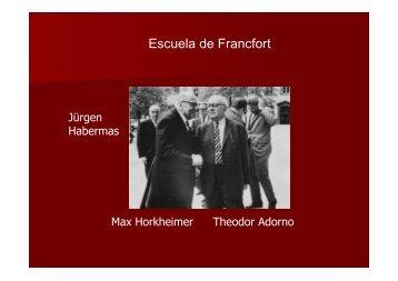 Escuela de Francfort - Hecho Histórico