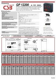 GP 12200 12V 20Ah - MICRONIX, spol. s ro