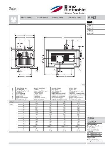 Daten V-VLT - Categories On Air Compressor Works