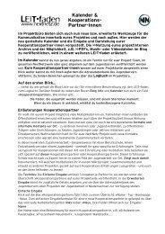Hilfe Kalender - Jugendserver Niedersachsen