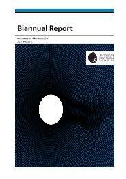 Biannual Report - Fachbereich Mathematik - Technische Universität ...