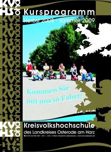 Rüdiger Brakel - Kreisvolkshochschule des Landkreises Osterode ...