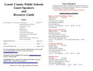 (a) Recommended Grade Level, (b) - Lenoir County Public Schools