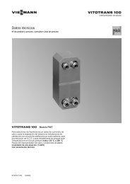 Datos técnicos Vitotrans 100 PWT323 KB - Viessmann