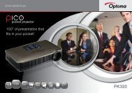 """150"""" of presentation that fits in your pocket! - Optoma Europe"""