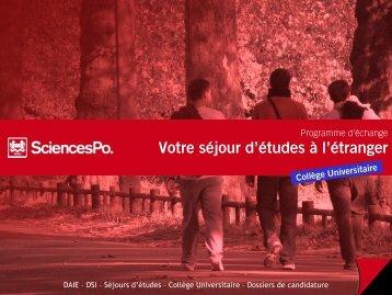 le guide d'utilisateur - Sciences-Po International