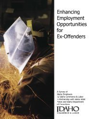 Enhancing Employment Opportunities For Ex-Offenders - Idaho