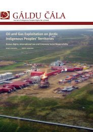 Oil and Gas Exploitation on Arctic Indigenous Peoples' Territories