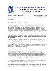 from Teresa 7-26-10 - Lenoir County Public Schools
