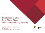 Challenges in SCM for a Global Player in the ... - SupplyOn