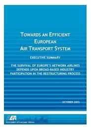 TOWARDS AN EFFICIENT EUROPEAN AIR TRANSPORT SYSTEM ...