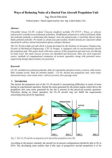 Ways of Reducing Noise of a Ducted Fan Aircraft Propulsion Unit