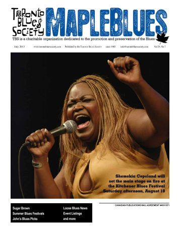July 2013 - Toronto Blues Society