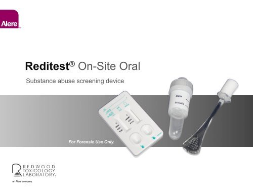 Reditest® On-Site Oral - Redwood Toxicology Laboratory