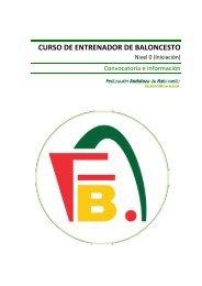 Convocatoria e información - Federación Andaluza de Baloncesto