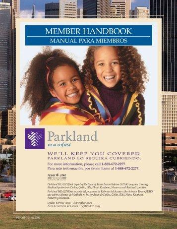 PHF Member Handbook - Parkland Community Health Plan, Inc.