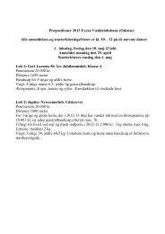 Propositioner 2013 Fyens Væddeløbsbane (Odense) Alle ...