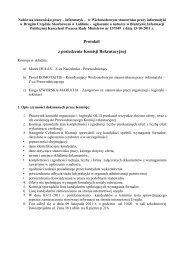 Protokół z posiedzenia Komisji Rekrutacyjnej - Lublin