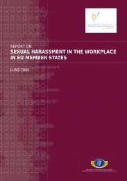 Report on Sexual Harassment in the Workplace in EU ... - UNECE