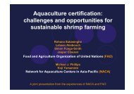 Aquaculture certification: challenges and opportunities for ... - Library